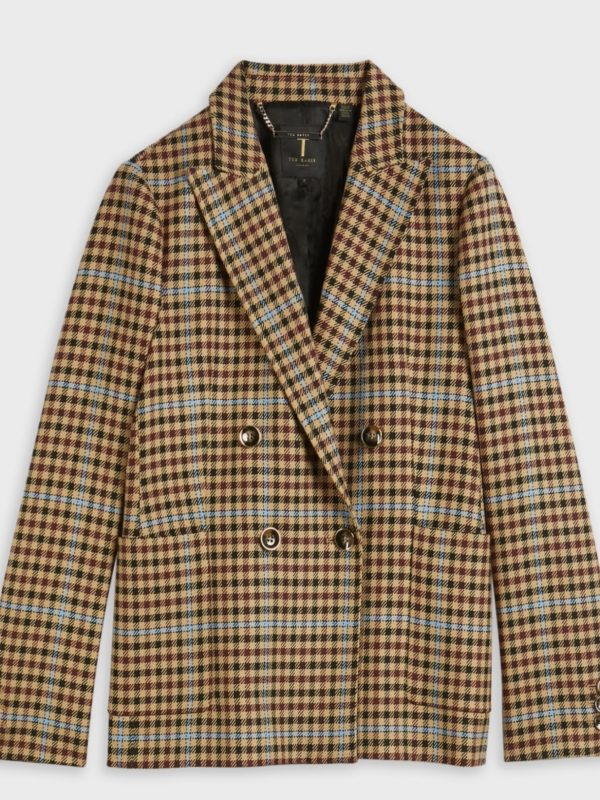Ted Baker - RAMUNE Check double-breasted jacket