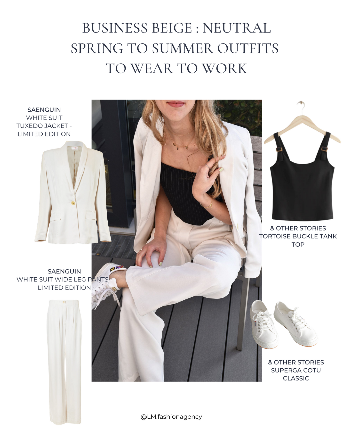 Business beige : neutral spring to summer outfits to wear to work